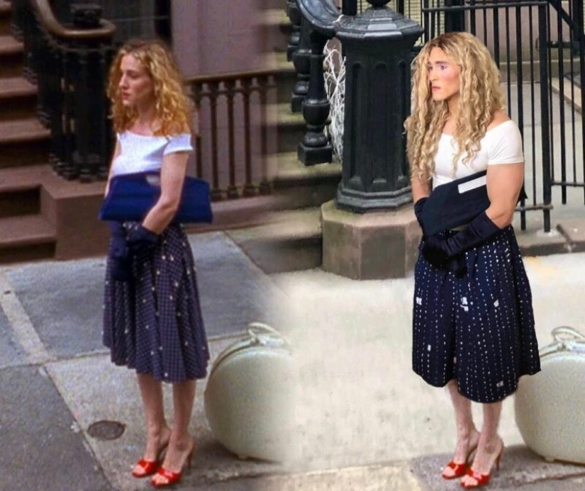 15 photos of the man who expertly recreates the images of Carrie Bradshaw