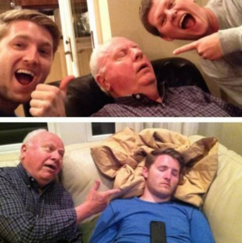 25 photos that retirement is a happy time, where there is a place for jokes and fun