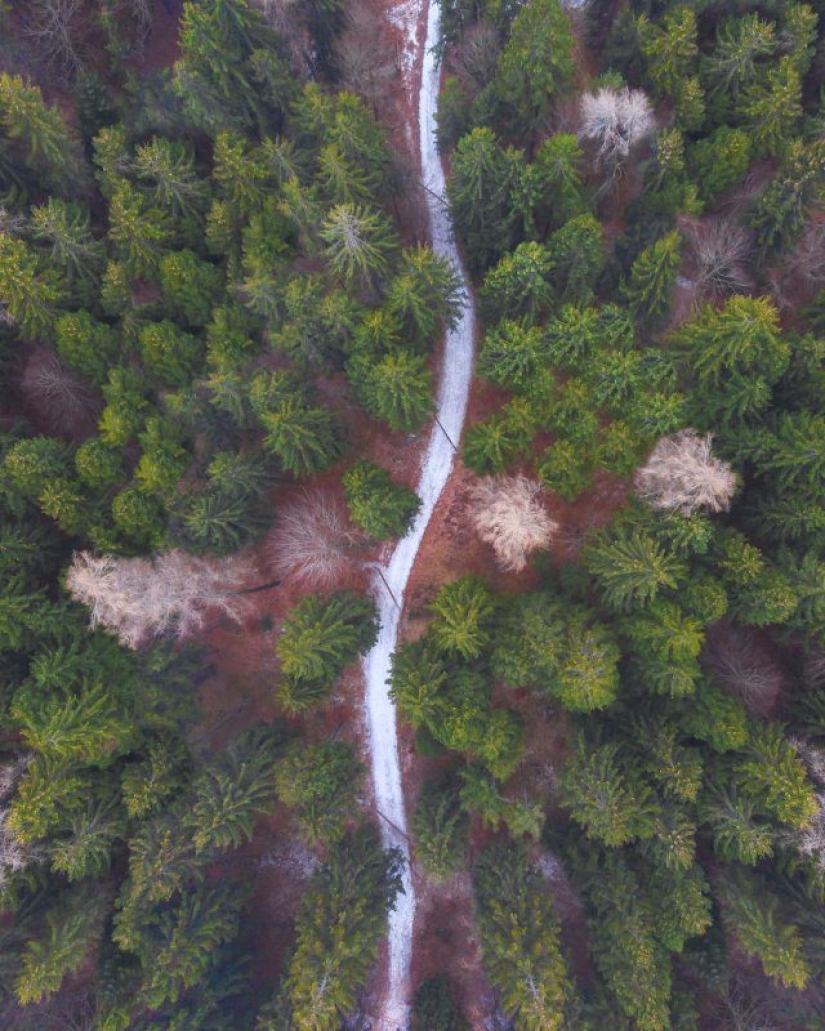 30 shots with the drone, which reveal the beauty of the world