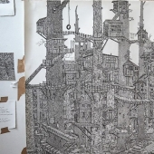 A world on paper: the Briton creates incredible landscapes in pen