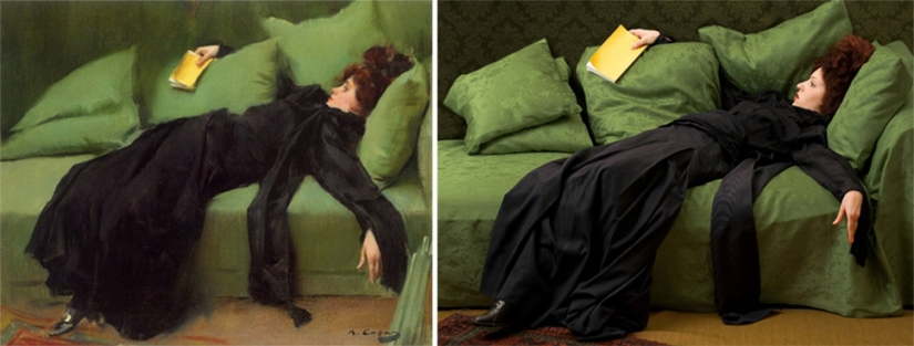 Classic paintings recreated using pictures