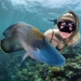 Everyone calls her the pictures with photoshop, but they are real: amazing footage of a diver and the underwater world