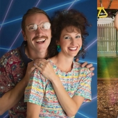 For the 10th anniversary of the marriage the couple starred in a wacky photo shoot in the style of the 80s