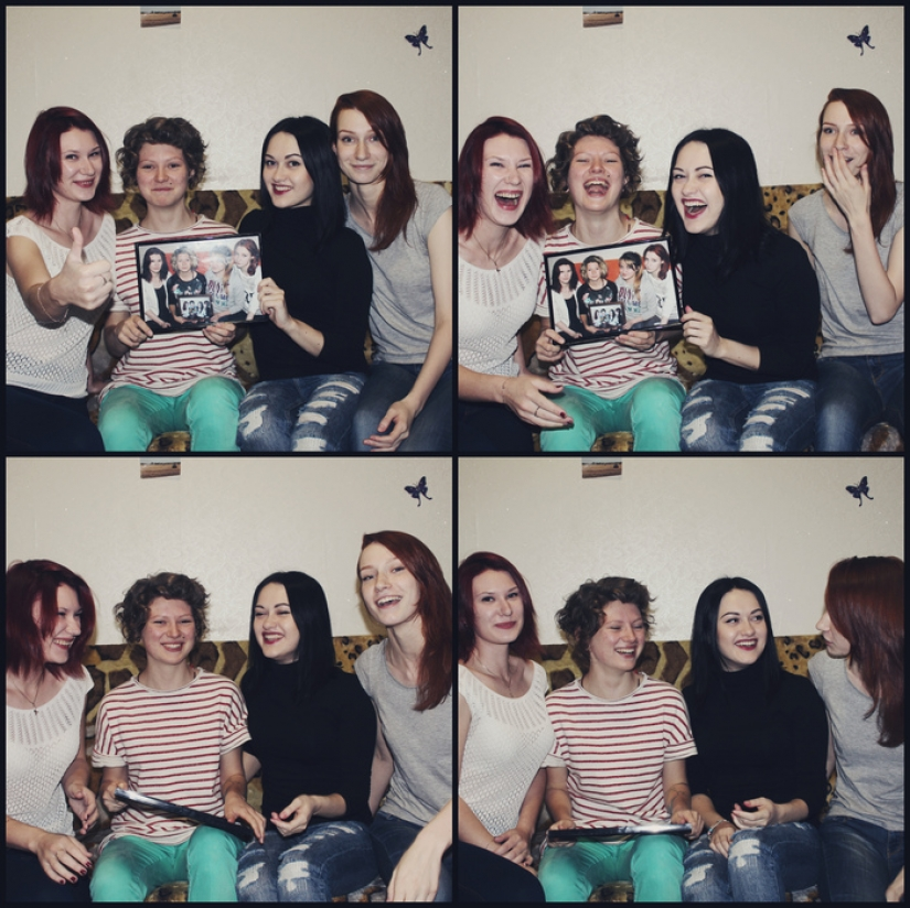 Four girlfriends from Russia 7 years did a joint photo, and this is what came of it