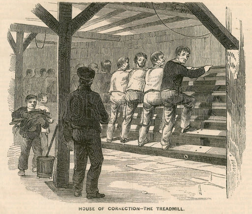 In prison of the 19th century there was a Ladder Cubitt, the ancestor of modern simulators