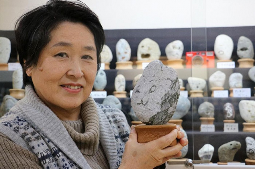 Japanese Museum Tinsukia collects stones, which look like faces