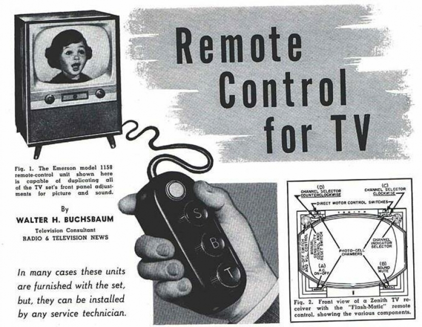 Looked like the first ever remote control for the TV