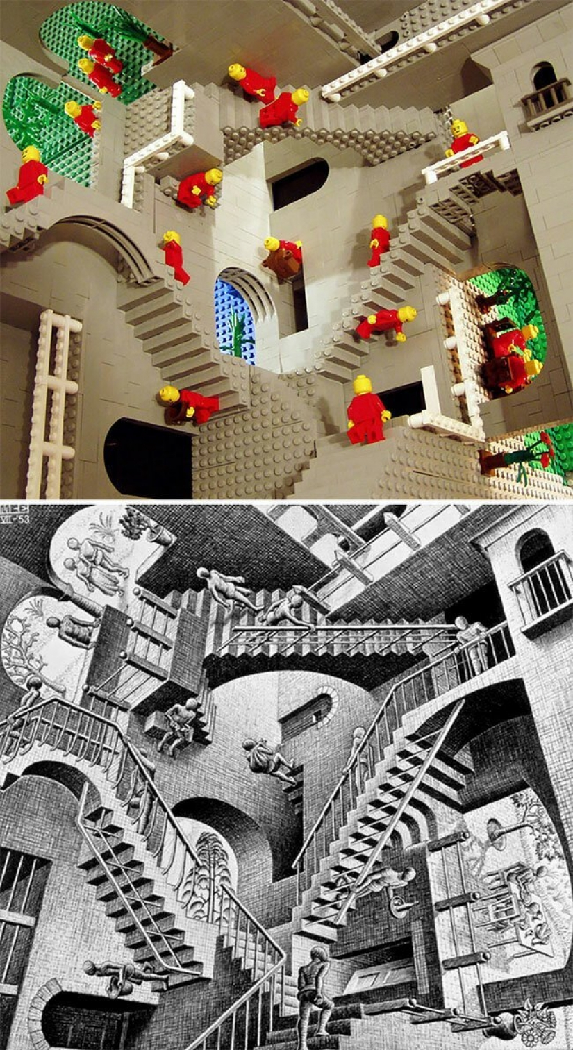 Masterpieces of art, sobrannye from LEGO
