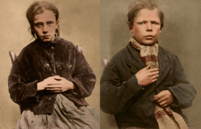 Portraits of children of the nineteenth century, sentenced to hard labor and prison for petty theft