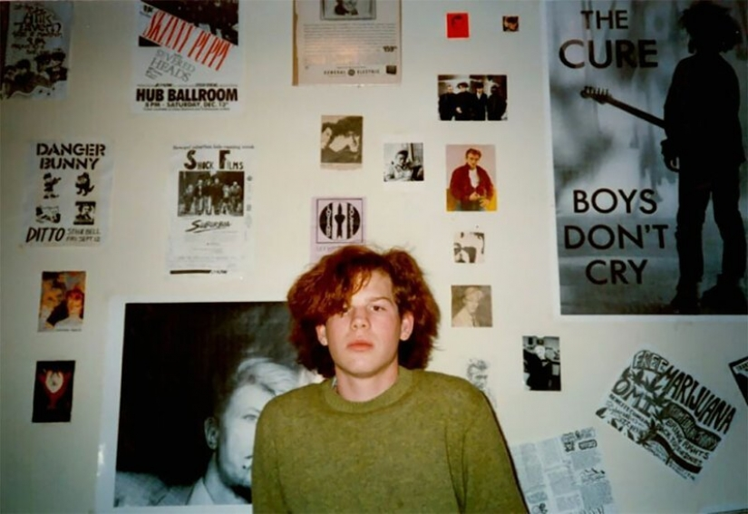 Posters not much happens: the typical room of an American ' 80s teen