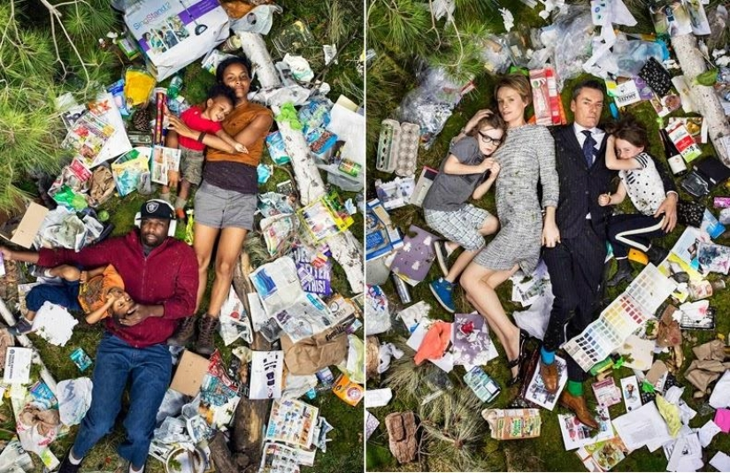 Shocking photo: how much garbage you produce in a week