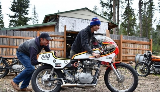 The American collected a motorcycle that runs on vodka and beat the speed record
