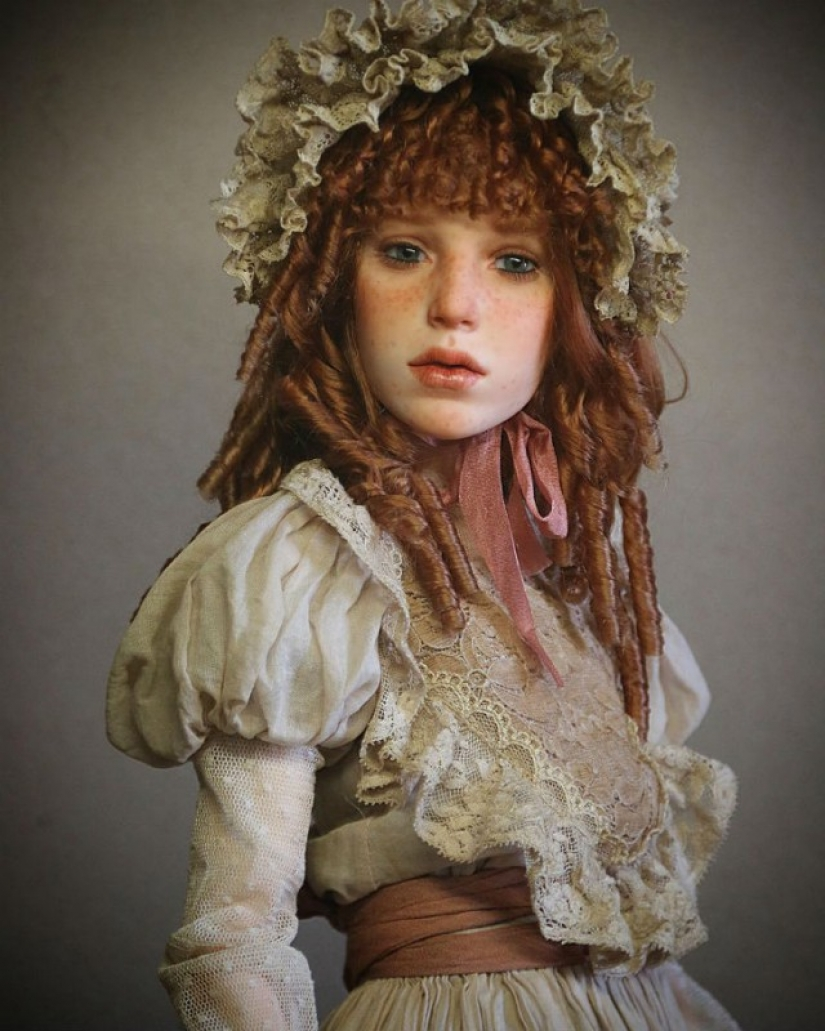 The artist creates are so realistic dolls that already goosebumps