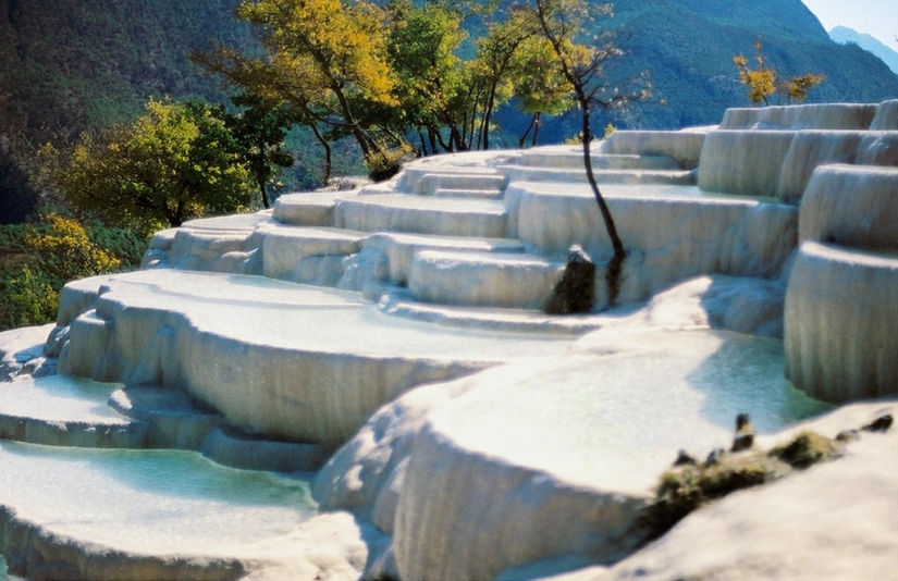 The Chinese miracle of nature: white water Terraces
