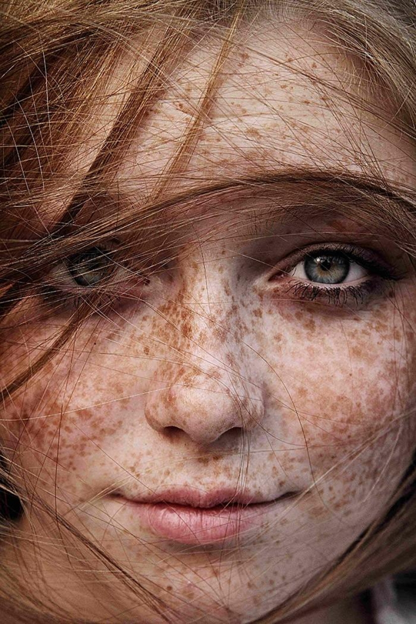 The most beautiful girls with freckles