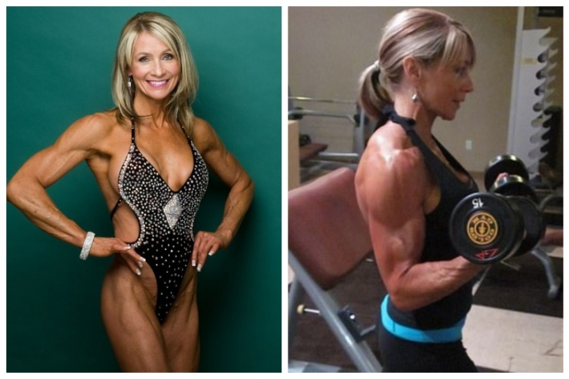 The muscles of the grandmother even jealous of men. But once she was afraid to go to the gym