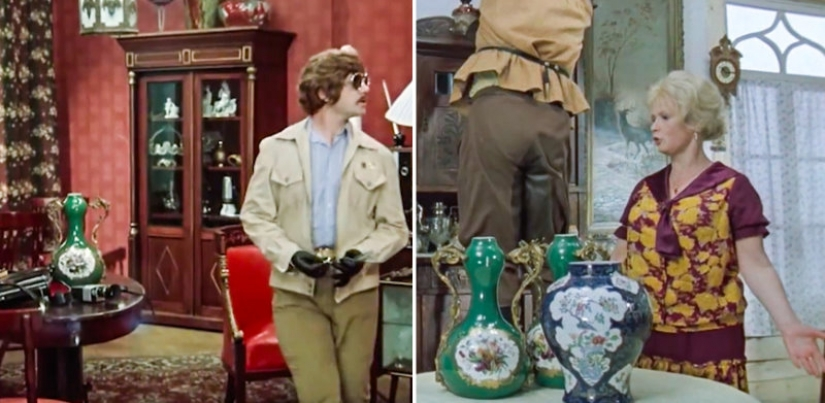 The same props and clothing, which has appeared in many Soviet films