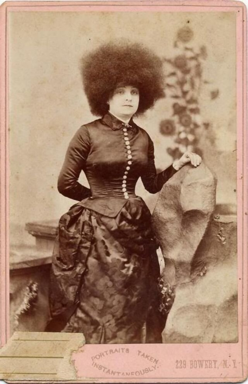 The world's most beautiful women, fake Circassian, who performed in circuses of the 19th century