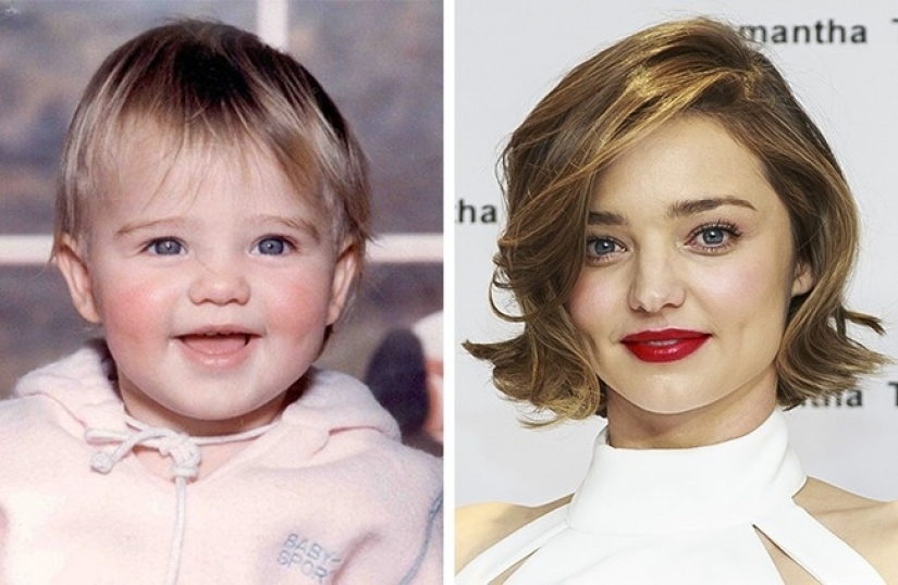 Then and now: 12 famous models in childhood
