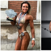 Tough love: the female bodybuilder says she is better in bed than skinny girls