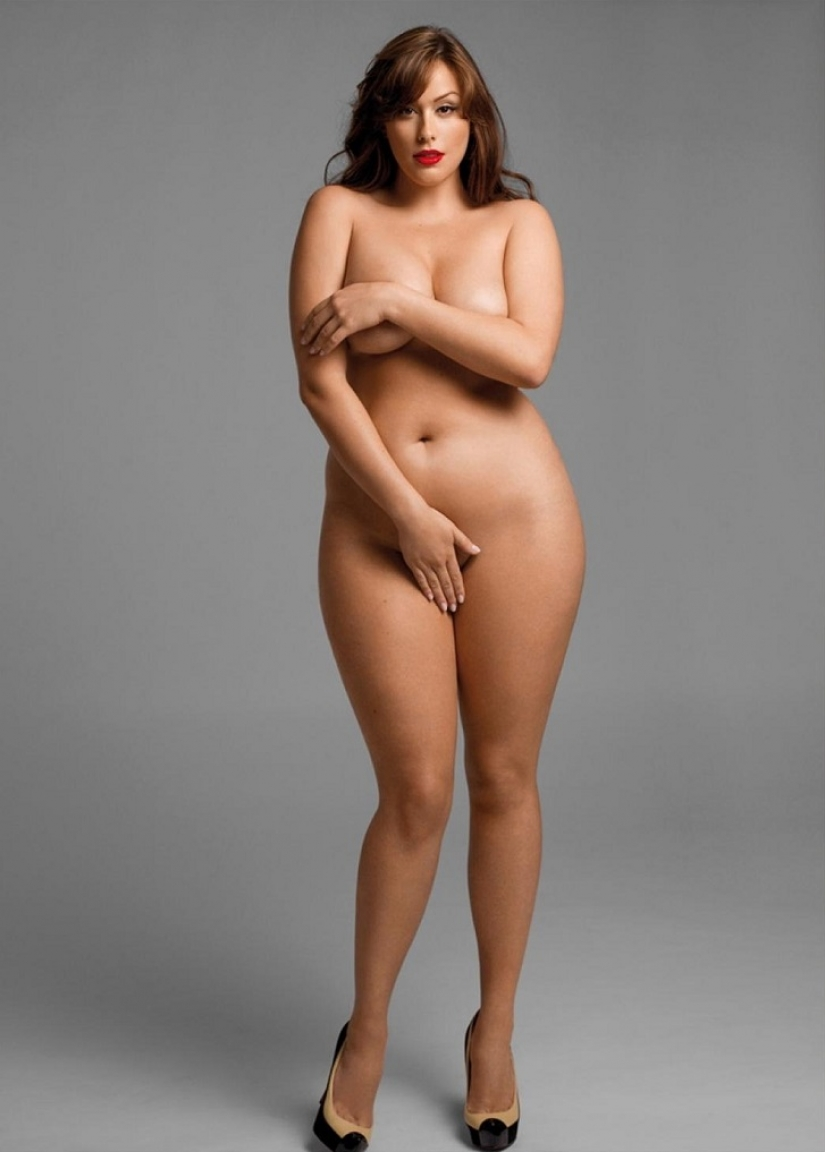 Very curvy not skinny woman in the photo book
