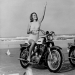 Vintage photo cool girls on motorcycles