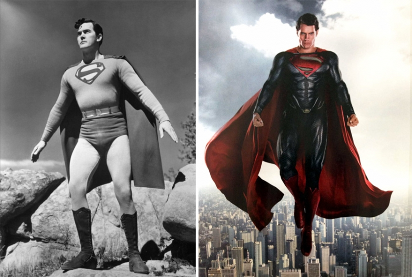 Who are all these people: how superheroes looked in the past