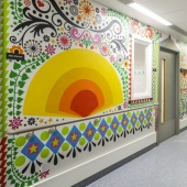 Artists have turned London children's hospital into a colorful place