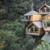China built a magical hotel from tree houses