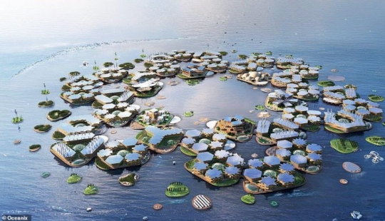 On the waves of the future: the floating city will retain the coastal villages from floods