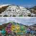 Paint the world in bright colors: the miraculous transformation of the gray buildings into works of art through graffiti