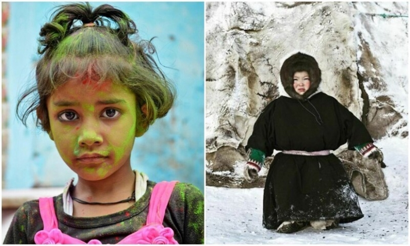 The photographer has shown how the childhood in different parts of the world